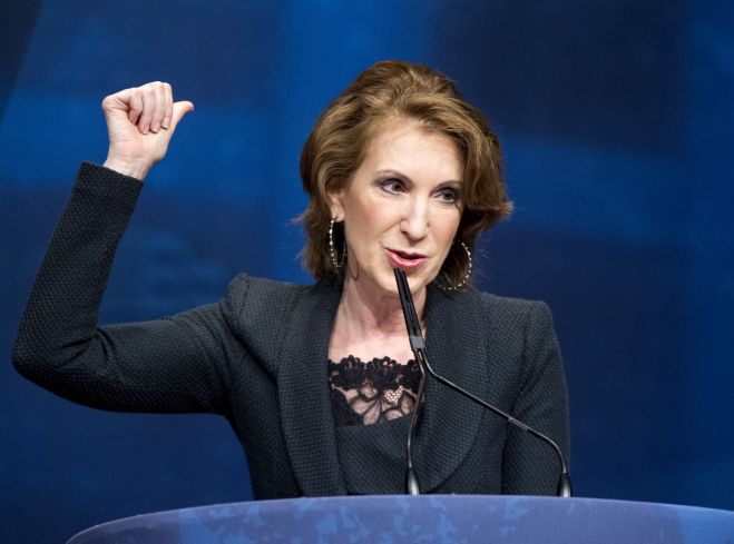Carly Fiorina, Board Member, the American Conservative Union, Vice Chair, National Republican Senatorial Committee (NRSC), and former Chief Executive Officer (CEO) Hewlett-Packard, makes remarks at the 2012 CPAC Conference Conservative Political Action Committee annual convention in Washington, DC, America - 10 Feb 2012 (Rex Features via AP Images)