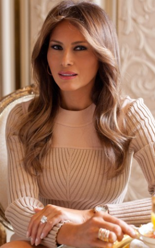 You can catch up on Melania's background and her jewelry and skin ...