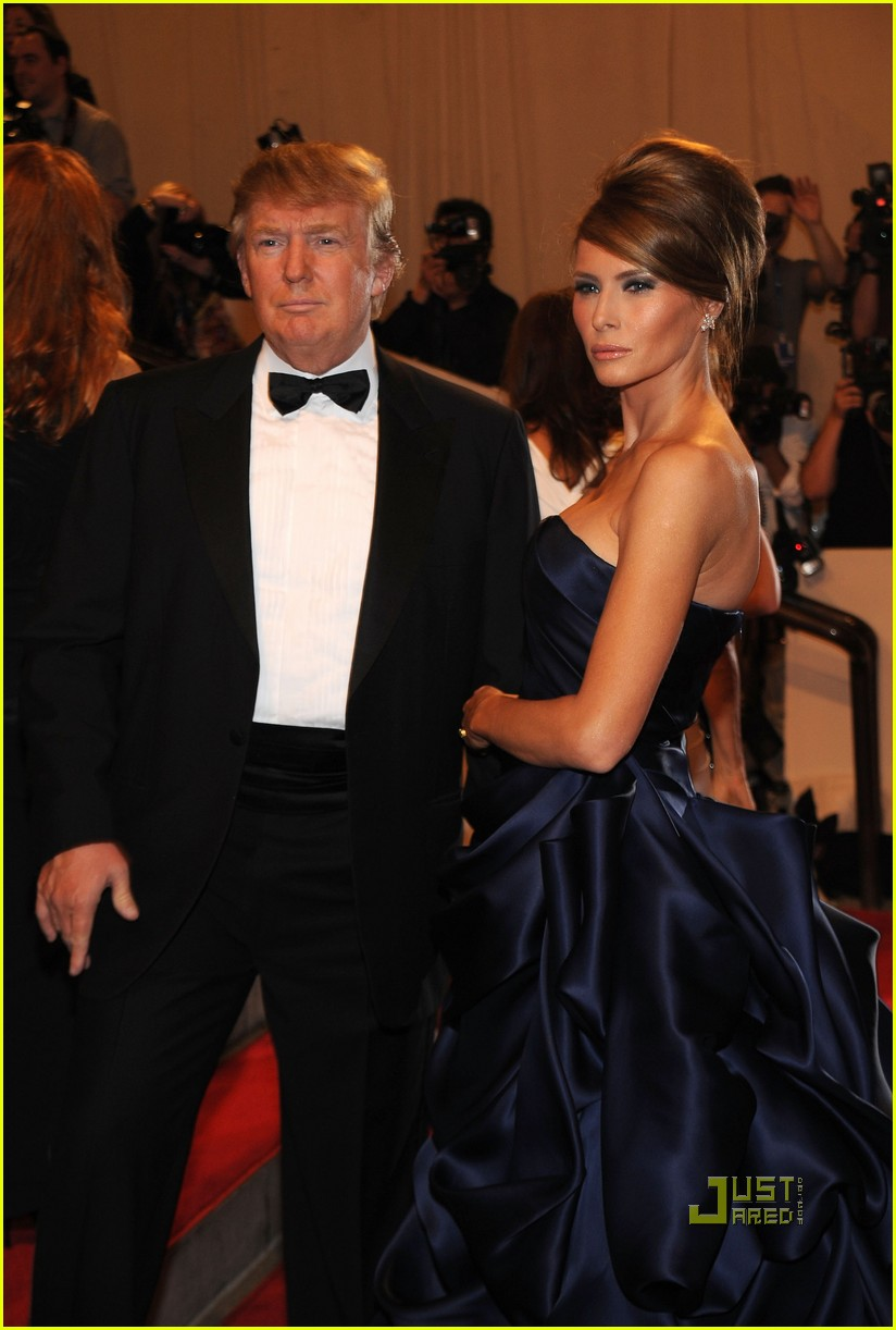 NEW YORK - MAY 03: Donald Trump and Melania Trump attend the Costume ...