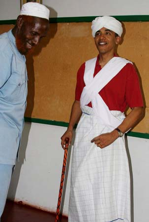 US SENATOR BARACK OBAMA IN KENYA