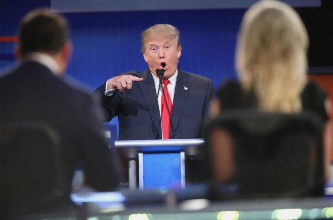 BESTPIX - Top-Polling GOP Candidates Participate In First Republican Presidential Debate