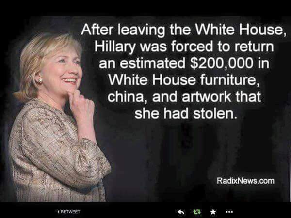 fraud hillary-clinton-stolen-furniture