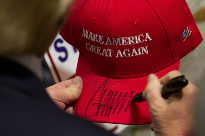Republican Presidential Candidate Donald Trump Holds Campaign Rally In Hartford, Connecticut