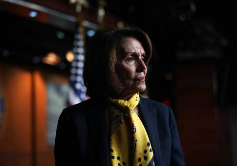 Minority Leader Nancy Pelosi Holds Weekly Press Conference At The Capitol