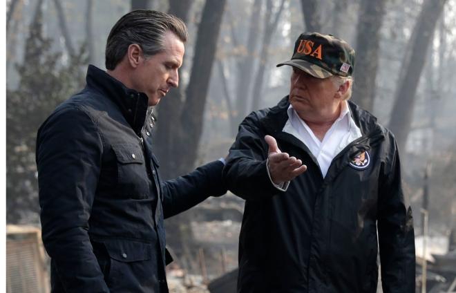 Trump California Wildfires, Paradise, USA - 17 Nov 2018