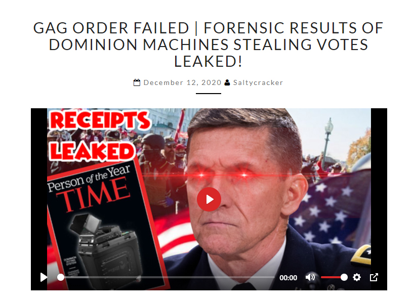 BOOM! GAG ORDER FAIL – DOMINION FORENSIC AUDIT RESULTS LEAKED! FOREIGN INTERFERENCE! Blog-salty-dog