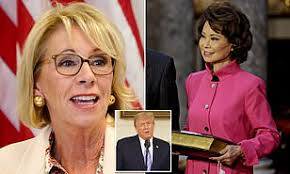 Education Secretary Betsy DeVos becomes second Cabinet member to resign  over MAGA riot | Daily Mail Online